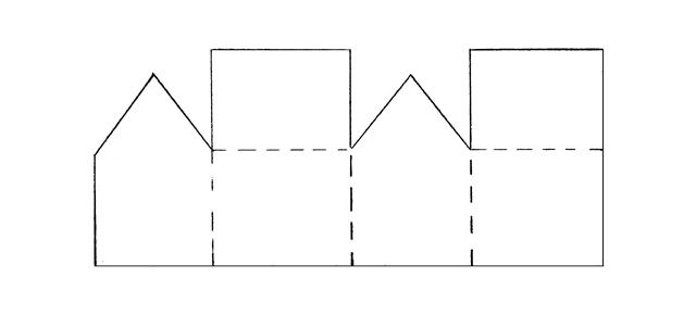 Схема домика из картона для детей своими руками шаблоны 111